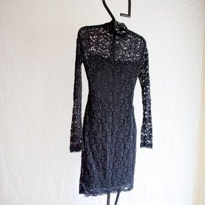 Moda International Black Lace Bodycon Dress Small